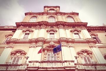 Dukes Palace, Modena. Cross processed color tone.