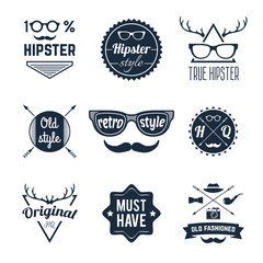 Hipster Label Set