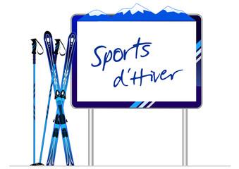 Panneau indicateur sports d'hiver