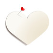 Haftnotiz mit Herznadel