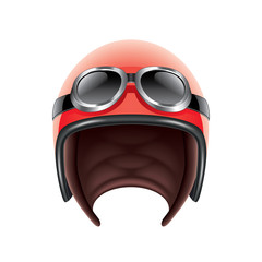 Retro aviator helmet isolated on white vector