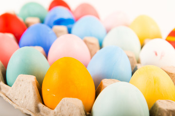 Different colorful Easter eggs