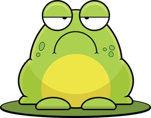 Cartoon Frog On Lilypad