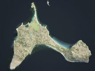 Formentera isola, mappa satellitare