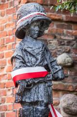 """""""Little Insurgent"""" statue in Warsaw, Poland"""