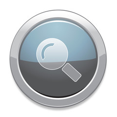 Search Sign Icon / Light Gray Button