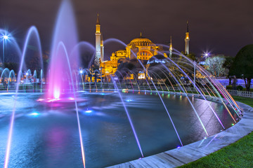 Hagia Sofia at night