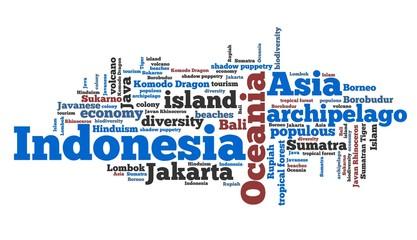 Indonesia word cloud