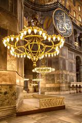 Hagia Sofia chandeliers.