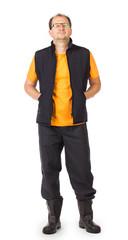 Worker in vest