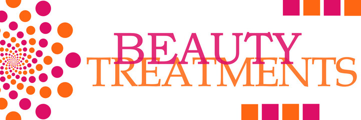 Beauty Treatments Pink Orange