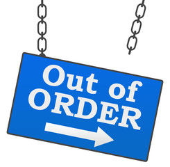 Out Of Order Signboard
