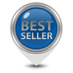 Best seller pointer icon on white background