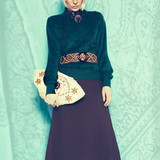 Boho style glamorous lady. Spring fashion accessories. Ethno Bel poster