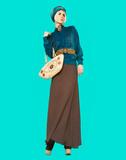 Boho style glamorous lady. Spring fashion accessories. Ethno fas poster