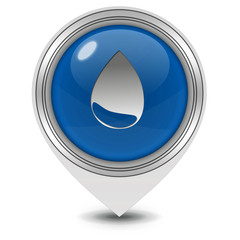 Water pointer icon on white background