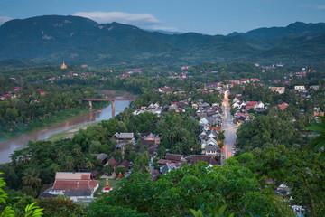 Evening view over Luang Prabang, Laos