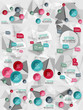 Set of vector business abstract infographics templates