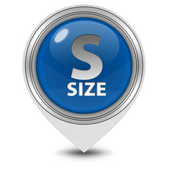S size pointer icon on white background