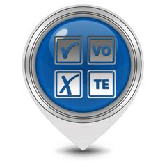 Vote pointer icon on white background