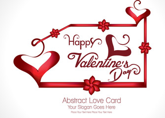 happpy valentine's day greeting card vector illustration