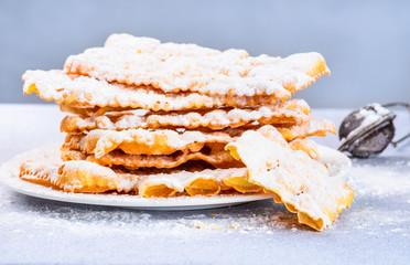 Italian carnival pastry, chiacchere or crostoli, bugie, cenci.
