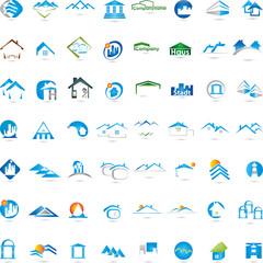Logo, Immobilien, Häuser, Dächer