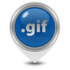 .gif pointer icon on white background