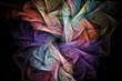 Leinwandbild Motiv Abstract regular geometrical fractal structure