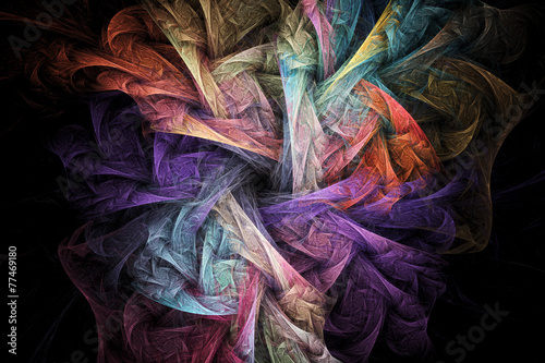 Abstract regular geometrical fractal structure - 77469180