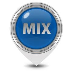 Mix pointer icon on white background