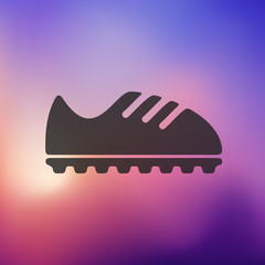 sneakers icon on blurred background