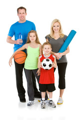 Family: Family Ready to Exercise Together