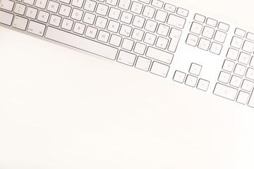 Tastatur von oben fotografiert