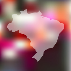 brazil icon on blurred background