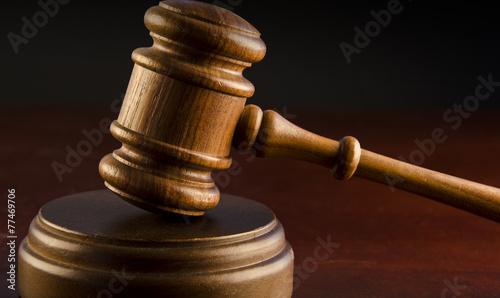Wooden judges gavel - 77469706