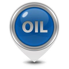 Oil pointer icon on white background