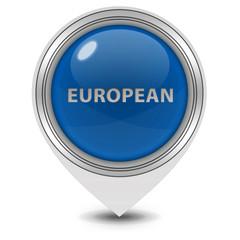 European pointer icon on white background