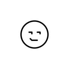 Smirking Emoji Trendy Thin Line Icon