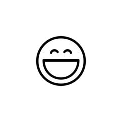 Laughing Emoji Trendy Thin Line Icon
