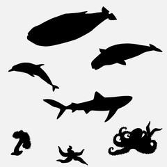 sea fish shape - illustration