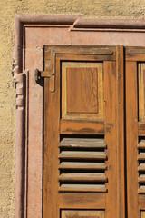 Ausschnitt, Teil eines alten Fensterladens