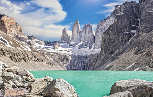 Plagát Torres del Paine mountains, Patagonia, Chile