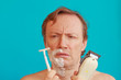 a man to shave must choose between the razor and the razor-blade