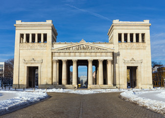 Propylaea city gate in Munich, Germany