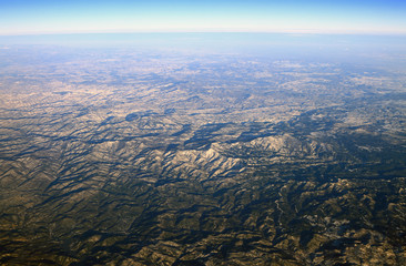View of mountains from above. Rhodope, Greece-Bulgaria