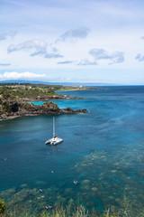 The coast of Hololua Bay, Hawaii