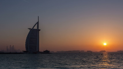 seven star hotel Burj Al Arab on Jumeirah Beach