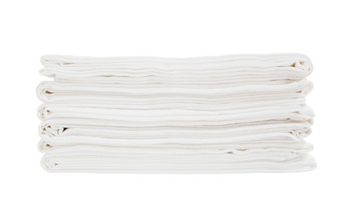 White bath sheets instack isolated over white