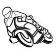 Motorbike rider - 77475729